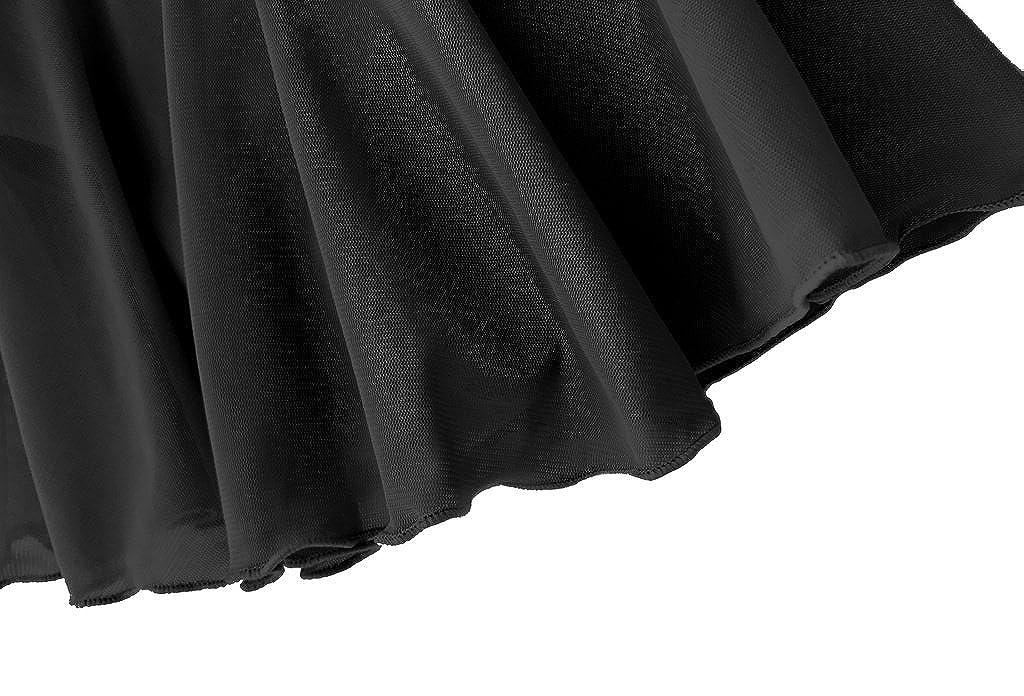 Dancina Girls Skirted Leotard Ballet Dance Dress Long Sleeve Cotton Front Lined