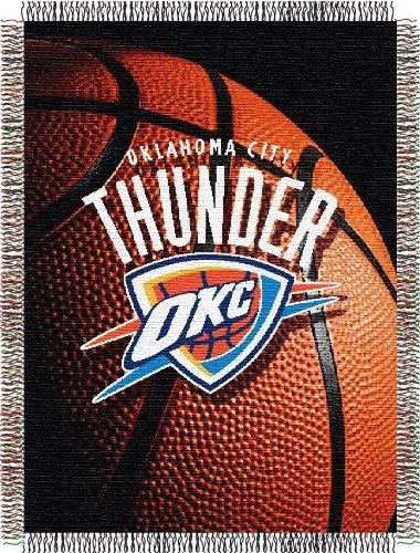 The Northwest Company Officially Licensed NBA Oklahoma City Thunder Photo Real Woven Tapestry Throw Blanket, 48