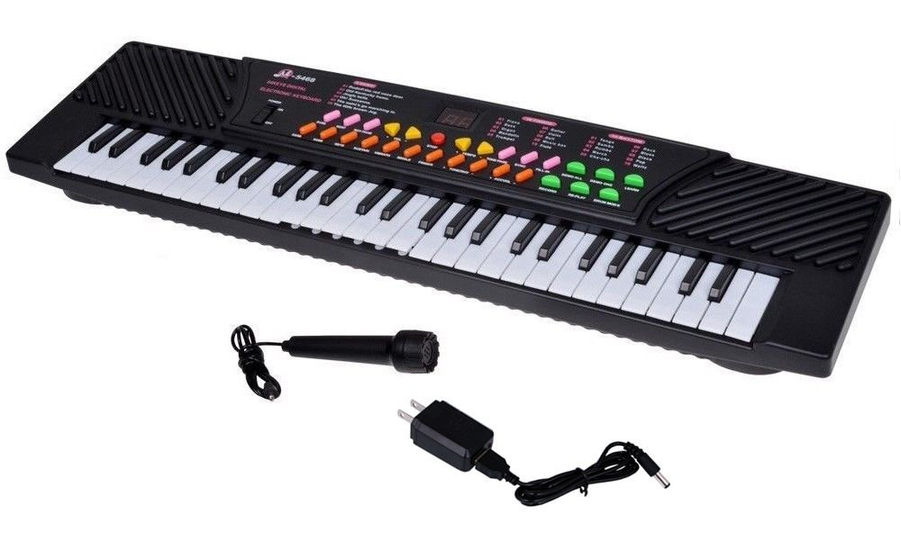 54 Keys Music Electronic Keyboard Kid Electric Piano Organ Record Playback W/Mic by Brand New