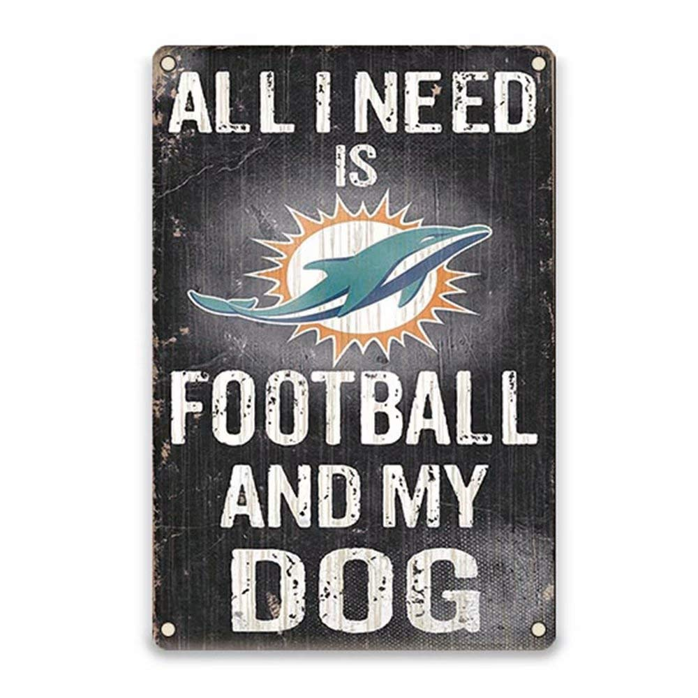 YOMIA Football Team Sign for Man Cave Signs Bar Pub Club Garage Metal Poster Tin Signs 8X12 Inches