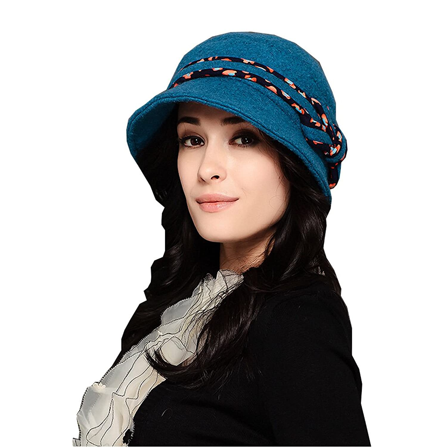 Maitose@ Women's Wool Beret Blue