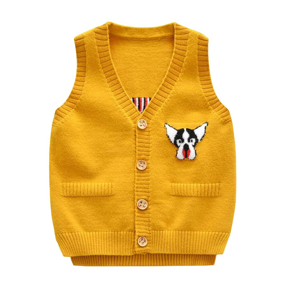 Onlyso Toddler Little Boys Button Down Cardigan Sweater Vest