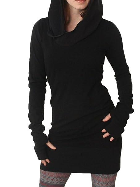 Vestiti Donna Ragazza Vestito con Cappuccio Corti Eleganti Felpa Taglie  Forti Inverno Tubino Abito Pullover Hoody Puro Colore Casual Abiti Mini  Dress Moda ... 3fe30ee90ca