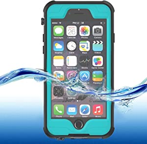 "ImpactStrong iPhone 6 Plus / 6s Plus Waterproof Case [Fingerprint ID Compatible] Slim Full Body Protection for Apple iPhone 6 Plus & 6s Plus (5.5"") - Ocean Blue"