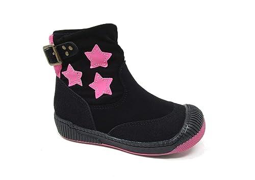 Botines Negros para Chicas con Estrellas.: Amazon.es: Zapatos y complementos