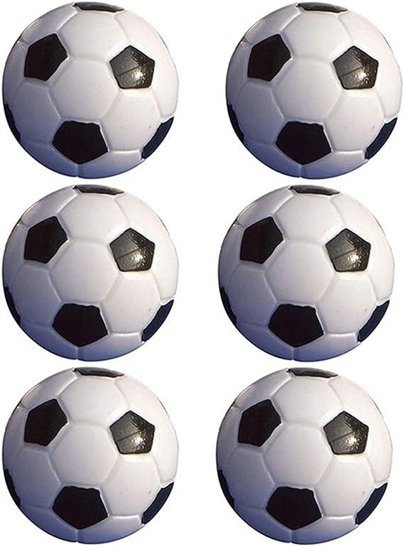 Rycnet - Juego de 6 pelotas de fútbol (32 mm, plástico), color ...