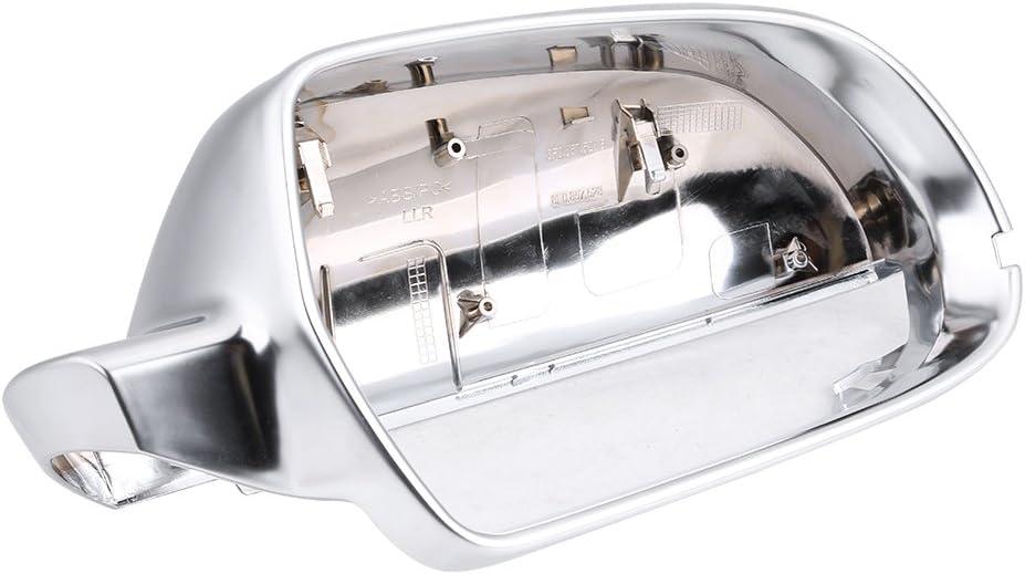 Spiegelgeh/äuse Spiegelkappe,1 Paar R/ückspiegel Shell Cover Schutzkappe Matt Chrom f/ür B8.5 A3 A4 A5