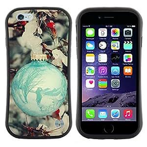 """Hypernova Slim Fit Dual Barniz Protector Caso Case Funda Para Apple (4.7 inches!!!) iPhone 6 / 6S (4.7 INCH) [Bola Decoración trullo nieve del invierno""""]"""