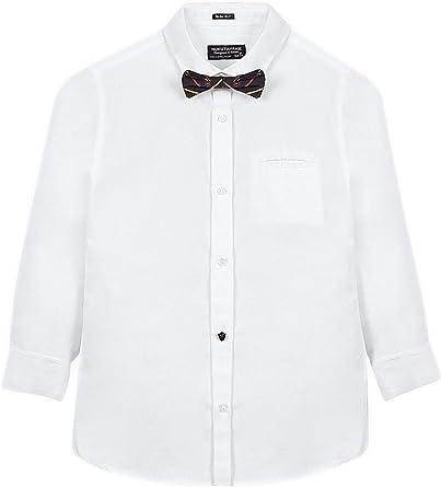 Mayoral, Camisa para niño - 7120, Blanco: Amazon.es: Ropa y accesorios