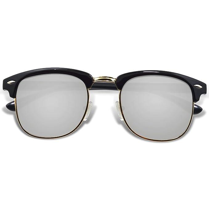 WHCREAT Gafas De Sol Polarizadas Retro Clubmaster Unisex ...