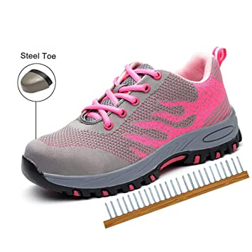 New Mens//Womens Mesh Steel Toe Cap Safety Shoes Work Boots Hiking Trainers Shoes