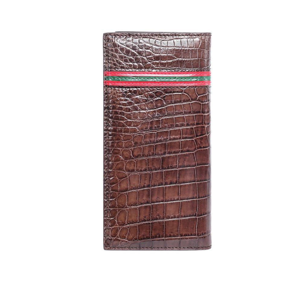 クロコダイルレザークラッチクロコダイルレザー財布クロコダイルスキンハンドメイド長財布 B07D54G33G