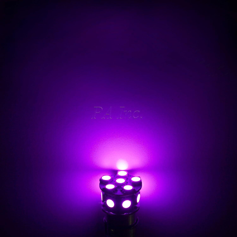 PA 2x 13SMD LED BA15S 1156 1141 Auto Stop Light//Back Light//Side Marker Light//Tail Light//Turn Signal Light Bulbs Purple-12V