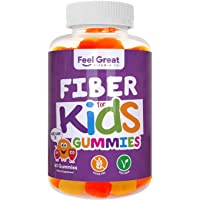 Prebiotic Fiber Gummies for Kids by Feel Great 365 | Improves Digestive Health, Gut Flora, Health & Immunity* | Vegetarian & Vegan Friendly Supplement | Non-GMO, Made with Fruit Pectin