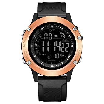 READ Mens Digital Smart Watch —Multifunction Sports Bluetooth Smartwatch with Alarm, Pedometer, Stopwatch, Calorie Counter, LED Display,Waterproof ...