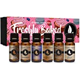 Freshly Baked - Gift Set of 6 Premium Fragrance Oils - Blueberry Pancakes, Caramel Nut Muffin, Butterscotch Cookie Dough…