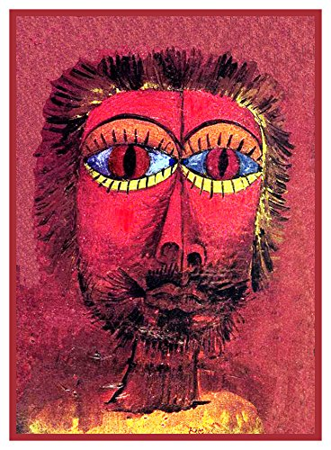 Orenco Originals The Bandits Head Expressionist Artist Paul Klee Counted Cross Stitch Pattern