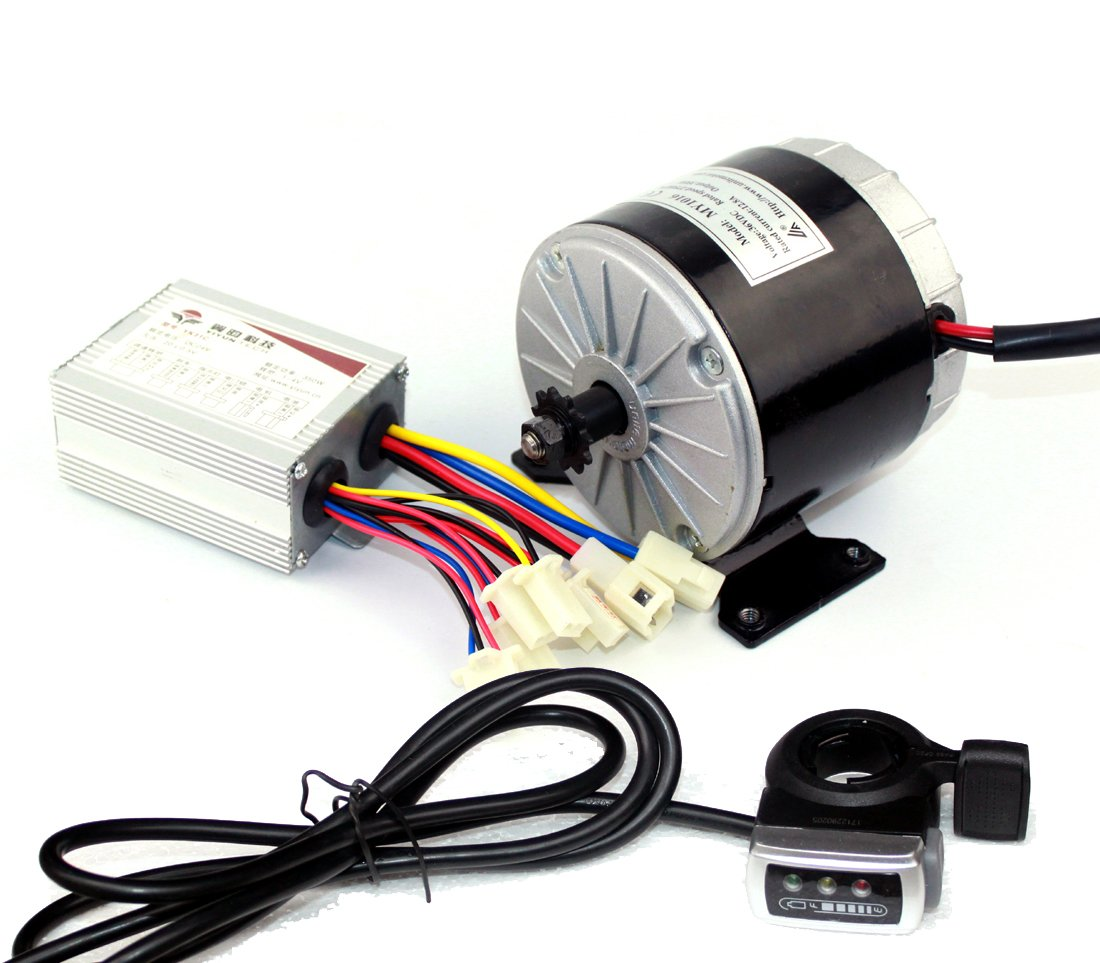 24v36v 350ワット電動スクーターモーターunitemotor my1016使用25 25hチェーンドライブで足ペダルスロットル電気行く-ゴーカートシンプルキット [並行輸入品] B07CQHWLQR36V350W Thumb kit