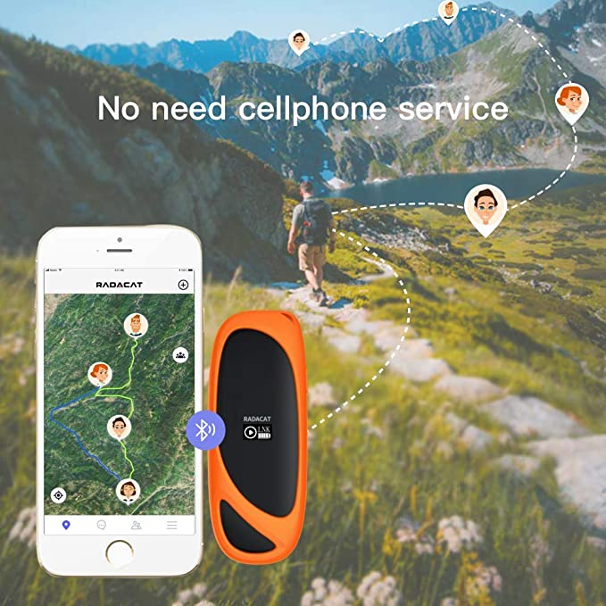 GPS Tracker Two-Way Off-Grid Tracking Devices Team Messager for Outdoor Travel Camping