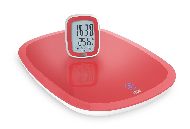 ADE Digitale Küchenwaage KE 1401 Cosma mit Funk-Display (rot ...