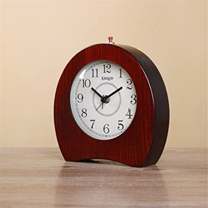Amazon.com: RFVBNM Wood European clocks bedside clock ...
