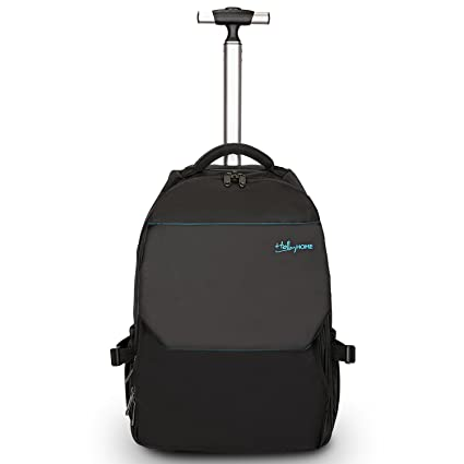 22c21308d154 Image Unavailable. Image not available for. Color  19 inches Large Storage  Multifunction Waterproof Travel Wheeled Rolling Backpack by HollyHOME