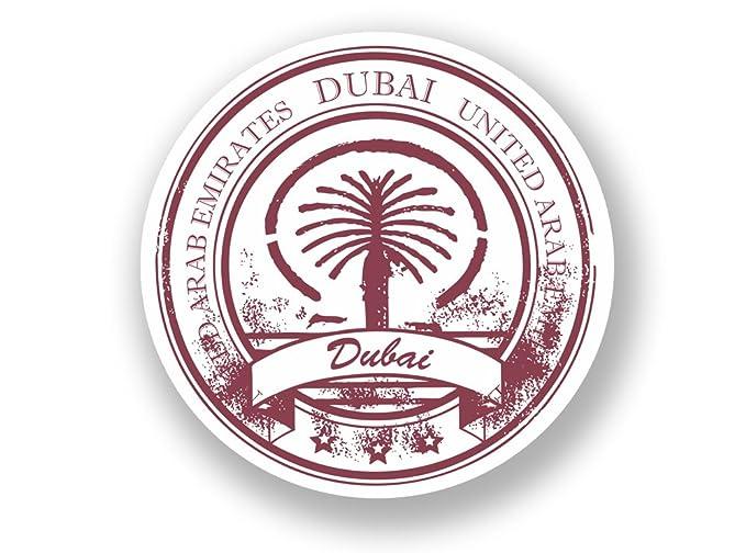 2/x Abu Dhabi Vereinigten Arabischen Emirate Vinyl Aufkleber Reise Gep/äck # 7091-10cm//100mm Wide
