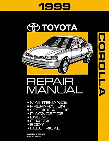 amazon com 1999 toyota corolla shop service repair manual book rh amazon com 1999 toyota corolla factory service manual 1999 toyota corolla repair manual pdf