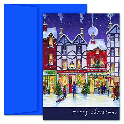 Great Papers! Holiday Greeting Card, City Holidays, 18 Cards/18 Envelopes, 5.625