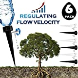 BPDOD Plant Watering Spikes Self Irrigation System Automatic Watering Devices Nannies for Indoor&Outdoor Garden Vacation Dripping Slow Release Adjustable Switch (6)