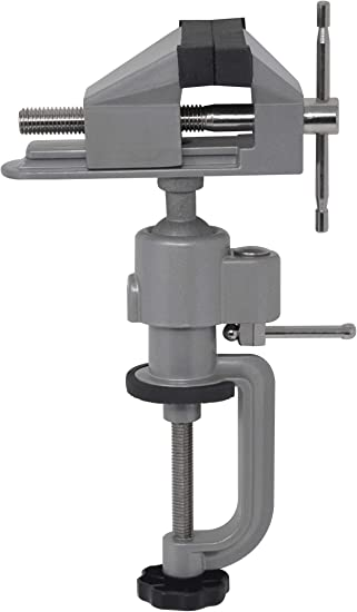 Tabletop Vise with 3 Jaws for Jewelry Making Bench Clamp Holder