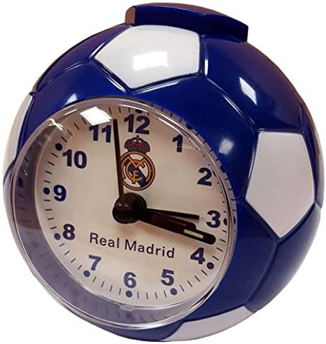Real Madrid Despertador F, C, un balón de fútbol / - un gran reloj ...