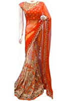 Sarees (Saree For Mira Fashion sarees for women party wear offer designer sarees for women latest design orange sarees new collection saree for women saree for women party wear saree With Designer Blouse Free Size Beautiful Georgette Saree For Women Party Wear Offer Designer Sarees With Blouse Piece)