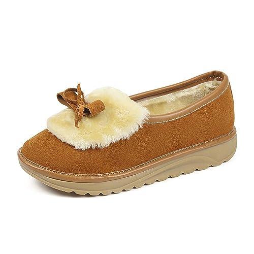 Btruely Herren Otoño Invierno Moda Botas de Nieve Botas de Planos Tacon Calzado Caño Calentar Planas Casual Botas Martin para Mujer Zapatos Botines Piel ...