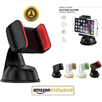 YCNEX™ 360° Degree Rotating Mobile Holder/Mobile Stand/Car Stand with Quick One Touch Technology for Car Dashboard, Home & Office Table/Desk with Multi Angle Adjustable & 360° Rotation
