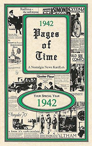 Seek Publishing 1942 Pages of Time Kardlet (PT1942)