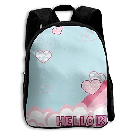 Image Unavailable. Image not available for. Color  CHLING Kids Backpack  Hello Kitty Rainbow Print Childrens ... 751d09b8dddf3