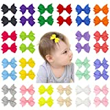 Beinou Mini 2' Hair Bows Alligator Clips Tiny Hair Clips Barrettes for Baby Girls Toddlers Kids - 40pcs in Pair