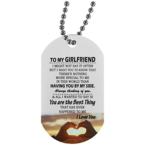 Dog Tag Military Ball Chain For Girlfriend