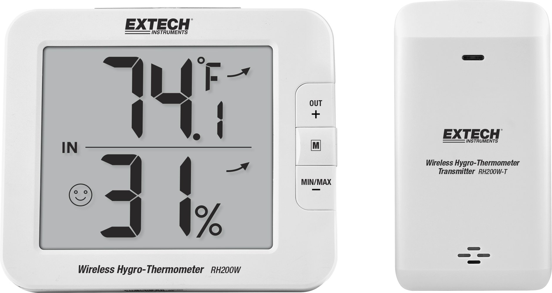 Extech RH200W Wireless Indoor/Outdoor Hygro-Thermometer Indicator