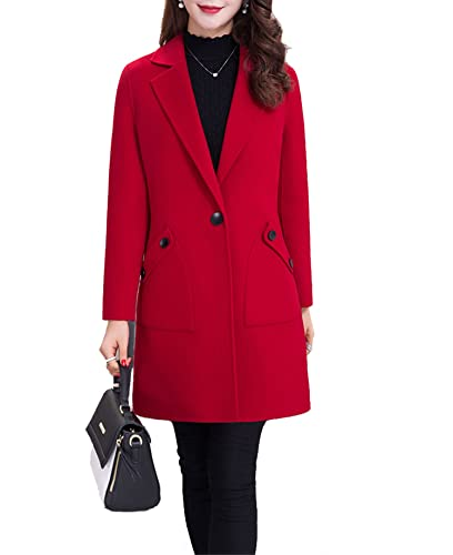 J.R.S – Abrigo – para mujer rojo rosso
