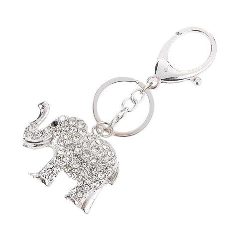Creative elefante colgante llavero de metal llavero de ...