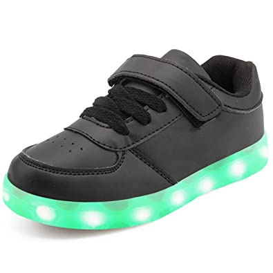 GreatParagon Paragon Unisexe Enfants Fille Chaussures USB Charge LED 7  Couleurs Clignotant LED Lumineux Sneakers Chaussures 399a4208ca4