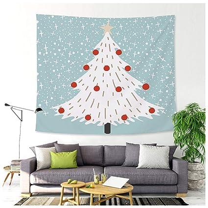 Tapiz, Árbol De Navidad Papá Noel Tela Colgante Hermoso Psicodélico Decoración De Pared Festivo Manteles