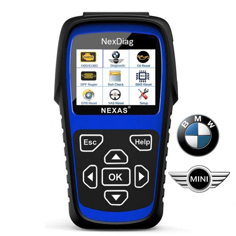 Diagnostic Scanner Tool Automotive Scanner for BMW MINI, NEXAS ND601 OBD II  OBD2 Scanner Multi-System Fault Code Reader for