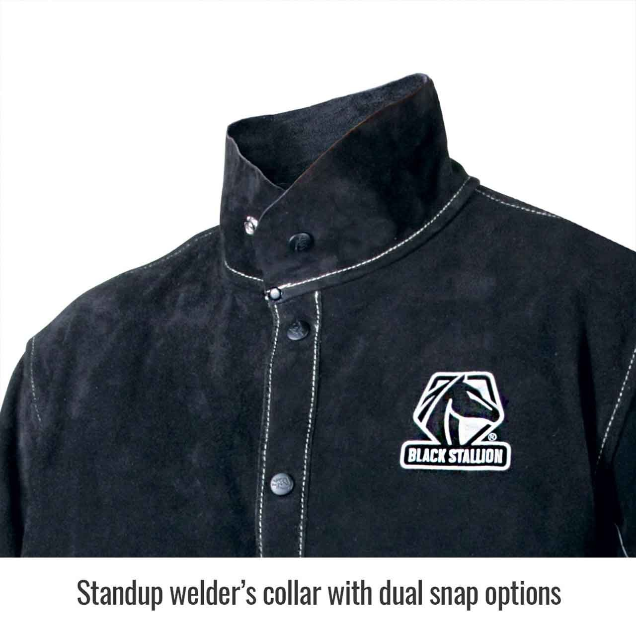 Black Stallion JL1030-BB Color Block Leather Welding Jacket, 3X-Large by Black Stallion (Image #2)