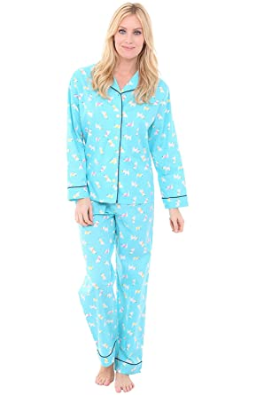 4e0878b17 Alexander Del Rossa Womens Woven Cotton Pajama Set with Pants