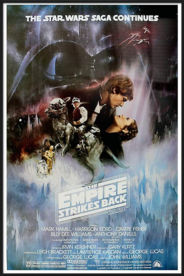 Amazon Com Star Wars Episode V The Empire Strikes Back Framed Poster Print Style A Gone With The Wind Style Size 27 Inches X 40 Inches Posters Prints