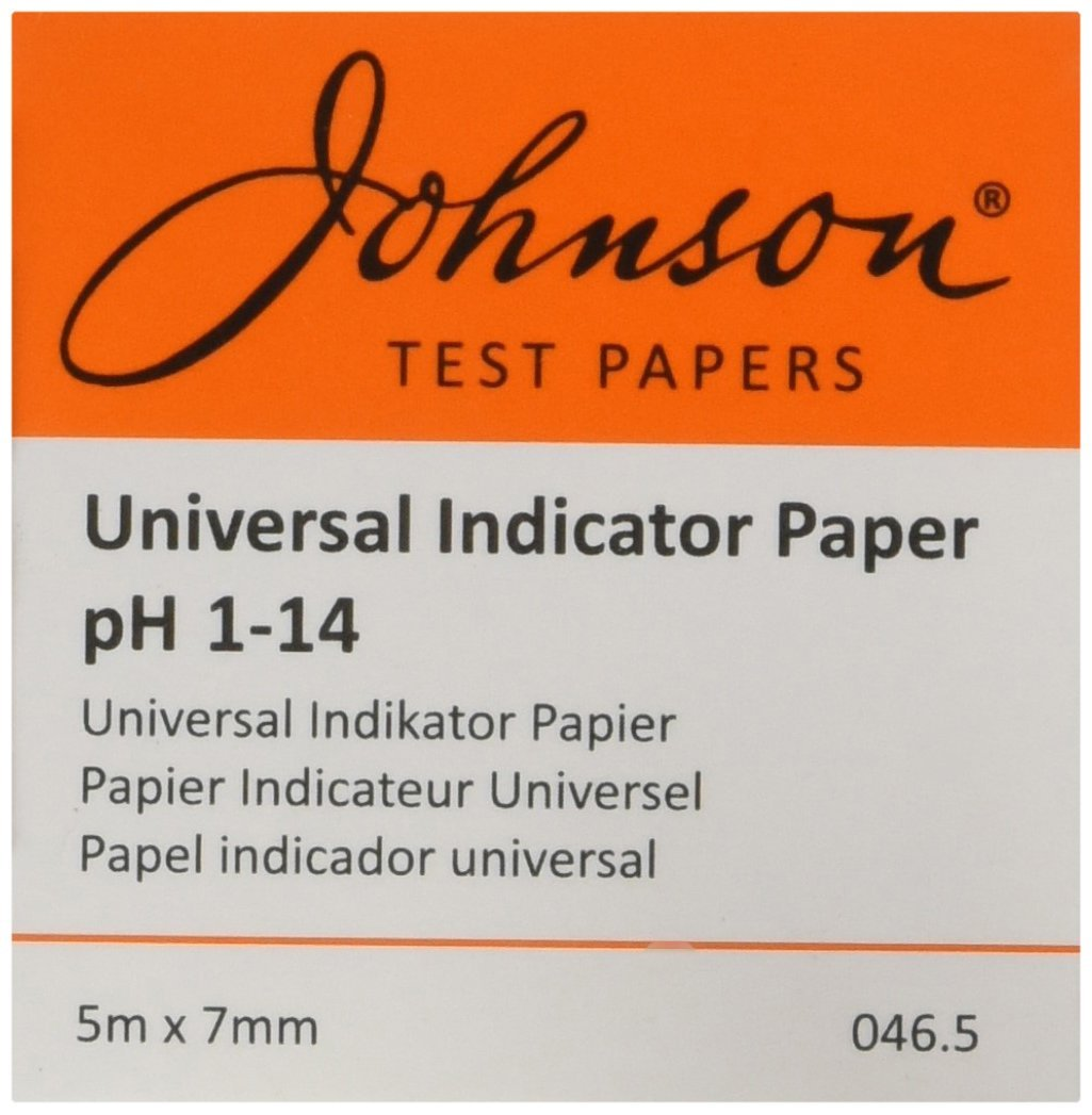 Johnson test papers 0465 universal indicator paper roll johnson test papers 0465 universal indicator paper roll dispenser 5 m x 7 mm amazon business industry science nvjuhfo Choice Image