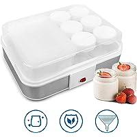 Sotech - Maquina para Hacer Yogur Casero, Yogurtera, tazón de fuente del yogur con el tamiz y 6 tarros, 30,6 x 25 x 12,4…